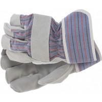 Перчатки спилковые комбинированные, размер XL Сибртех 67901