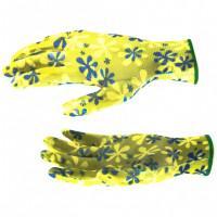 Перчатки садовые из полиэстера с нитрильным обливом, зеленые, M Palisad 67742