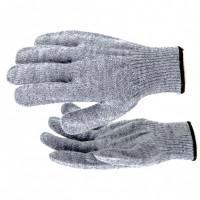 Перчатки трикотажные, акрил, серое мулине, оверлок Россия Сибртех 68654