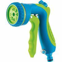 Пистолет-распылитель, 8 режимов полива, курок спереди, регулятор напора, эргономичная рукоятка Palisad Luxe 65180