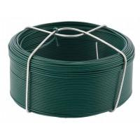 Проволока с ПВХ покрытием, зеленая 1,2 мм, длина 50 м Сибртех 47771