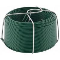 Проволока с ПВХ покрытием, зеленая 0,9 мм, длина 50 м Сибртех 47770