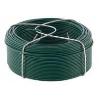 Проволока с ПВХ покрытием, зеленая 1,5 мм, длина 50 м Сибртех 47772