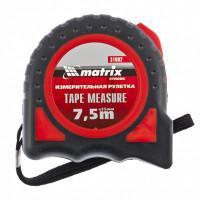 Измерительная рулетка Strong 31082 Matrix 7,5м полотно 25мм полимерное покрытие, обрезиненный корпус.
