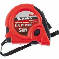 Измерительная рулетка Rubber 31002 Matrix 5м стальное полотно 19мм полимерное покрытие, обрезиненный корпус