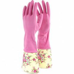 Перчатки хозяйственные латексные с манжетами, XL, Сибртех 67957