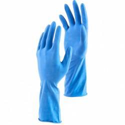Перчатки хозяйственные латексные c двойным хлопковым напылением, S, Сибртех 67950