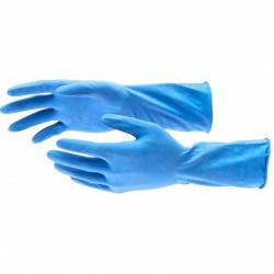 Перчатки хозяйственные латексные c хлопковым напылением, S Elfe 67885