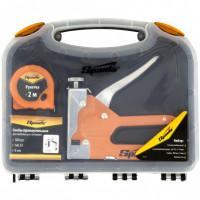 Набор: степлер мебельный регулируемый, скобы 500 шт, рулетка 2 м, тип скобы 53, 6-14 мм Sparta 42003