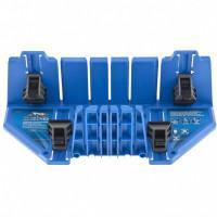 Стусло пластиковое 350 х 100 х 80 мм, 5 углов для запила, прижимные фиксаторы с съемными угловыми накладками, БАРC 22560