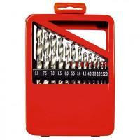 Набор сверл по металлу, 1-10 мм (через 0,5 мм), HSS, 19 шт, металлическая коробка, цилиндрический хвостовик Matrix