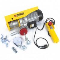 Тельфер электрический TF-800, 0.8 т, 1300 Вт, высота 12 м, 8 м/мин Denzel 52014