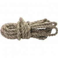 Веревка льнопеньковая, D 10 мм, L 10 м, крученая Россия Сибртех 94009