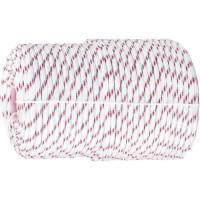 Фал плетеный полипропиленовый с сердечником, 16-прядный, 8 мм, бухта 100 м, 520 кгс Россия Сибртех 93966