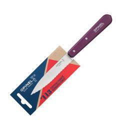 Нож столовый Opinel №113, деревянная рукоять, блистер, нержавеющая сталь, сливовый 001919