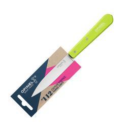 Нож столовый Opinel №112, деревянная рукоять, блистер, нержавеющая сталь, зеленый 001915