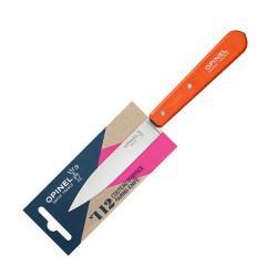 Нож столовый Opinel №112, деревянная рукоять, блистер, нержавеющая сталь, оранжевый, 001916