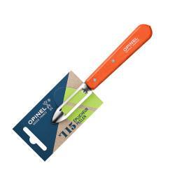 Нож для чистки овощей Opinel №115, деревянная рукоять, нержавеющая сталь, красный, блистер, 001931