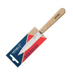 Нож столовый серрейторный Opinel №113, деревянная рукоять, нержавеющая сталь, блистер, 001918