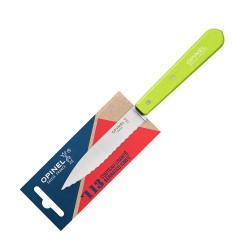 Нож столовый Opinel №113, деревянная рукоять, блистер, нержавеющая сталь, зеленый 001920