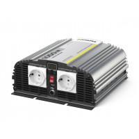 Инвертор автомобильный - преобразователь напряжения 24В-220В 1000Вт Pitatel KV-M1000DRU.24 модифицированная синусоида