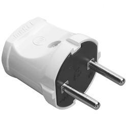 Вилка электрическая прямая без заземления MAKEL 10001 белая 220В 6А 1,3 кВт