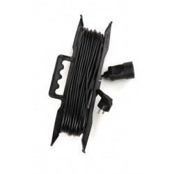 Электрическая переноска-удлинитель на рамке с заземлением КРОНА КС115020 РС-1 на 20 метров 1 розетку 1,3 кВт 6А черная