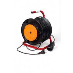 Переноска-удлинитель на катушке КРОНА КС123050 РС-1 на 50 метров 1 розетку 1,3 кВт 6А
