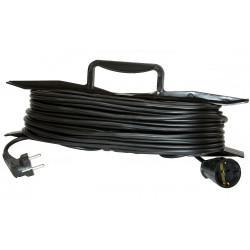 Электрическая переноска-удлинитель на рамке КРОНА KC113010 РС-1 на 10 метров 1 розетку 1,3 кВт 6А черная