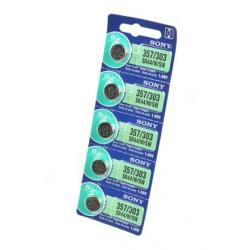 Батарейка Sony SR44S/W/SW (357/303) 1,55В дисковая 5шт