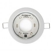 Светильник для подвесных и натяжных потолков 14055 Ultraflash GX-53-01 под лампу GX53 220В 20Вт Белый