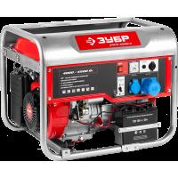 Бензиновый генератор с электростартером ЗУБР 4500 Вт ЗЭСБ-4500-Э