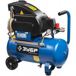 Маслянный компрессор ЗУБР Профессионал 240 л/мин 24 л ЗКПМ-240-24-1.5