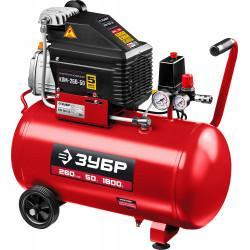 Маслянный компрессор ЗУБР 260 л/мин 50 л КПМ-260-50