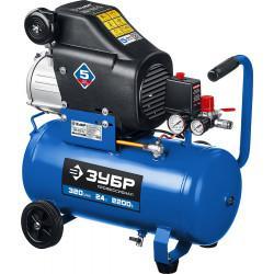 Маслянный компрессор ЗУБР Профессионал 320 л/мин 24 л КПМ-320-24