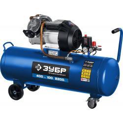 Маслянный компрессор ЗУБР Профессионал 400 л/мин 100 л КПМ-400-100