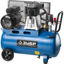 Ременной компрессор ЗУБР Профессионал 440 л/мин 50 л ЗКПМ-440-50-Р-2.2