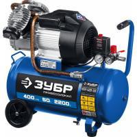 Маслянный компрессор ЗУБР Профессионал 400 л/мин 50 л КПМ-400-50