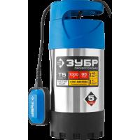 Дренажный насос 1000 Вт для чистой воды ЗУБР Профессионал НПЧ-Т5-1000-С