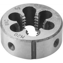 ЗУБР М20x2.5мм, плашка, сталь 9ХС, круглая ручная, 4-28022-20-2.5