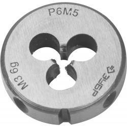 ЗУБР М3x0.5мм, плашка, сталь Р6М5, круглая машинно-ручная 4-28023-03-0.5, 4-28023-03-0.5, серия Профессионал