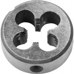 ЗУБР М10x1.25мм, плашка, сталь Р6М5, круглая машинно-ручная 4-28023-10-1.25, 4-28023-10-1.25, серия Профессионал