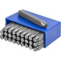 Штамповочные буквенные клейма латиница ЗУБР Профессионал 6 мм 21505-06